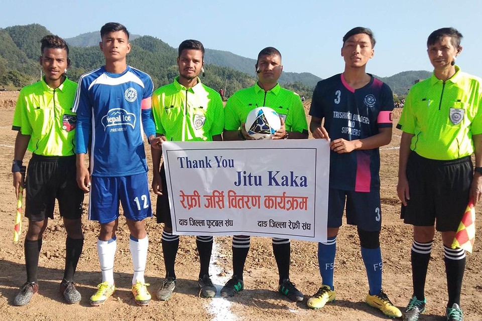 GoalNepal Foundation Hands Over Referee Kit To Dang District Referee Association