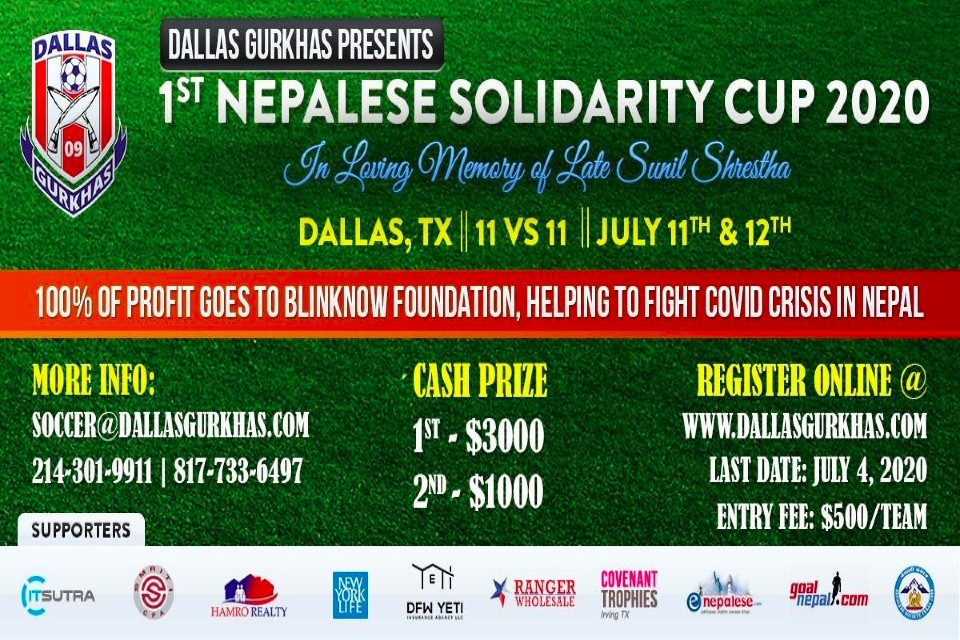 USA: Dallas Gurkhas Organizing Solidarity Cup 2020