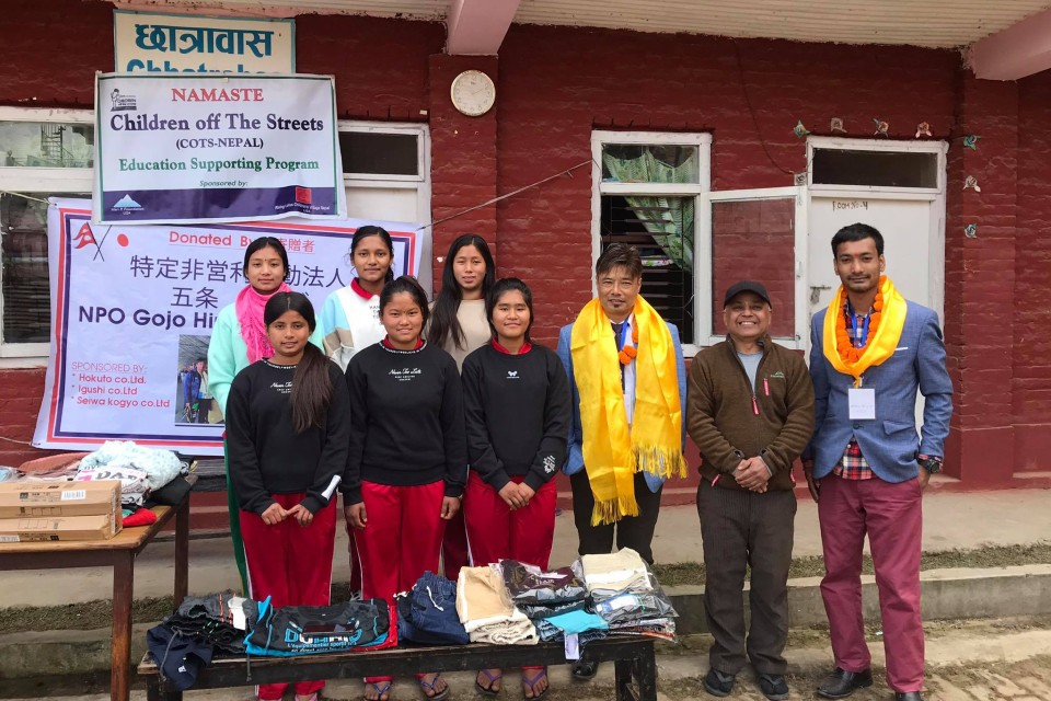 Former National Team Interpreter Roshan Tuladhar Hands Over Sporting Gears To Social Organizations