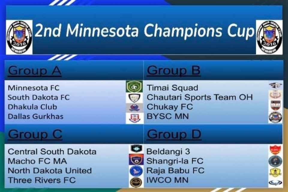 Preparation Completed For 2nd Minnesota Champions Cup; Winners To Get USD 10,000 !