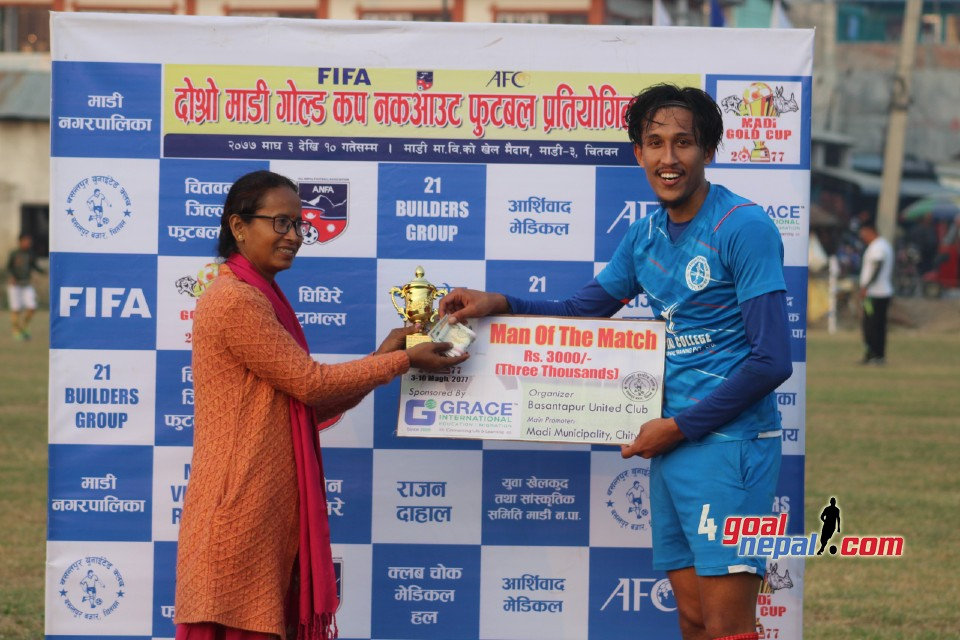 2nd Madi Gold Cup: Bharatpur FC Enters SFs