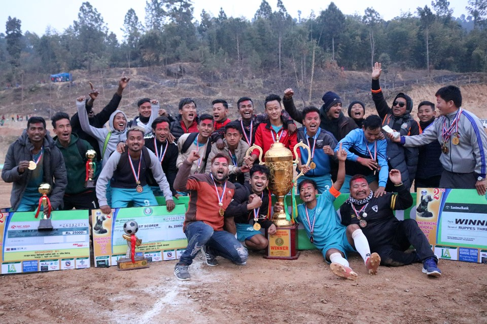 JALTHAL FC, JHAPA WINS TITLE OF 2nd BHAGIMAN SINGH MEMORIAL CUP